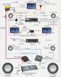 Amplifier wiring diagrams | EXCURSIONS | Car audio systems ...