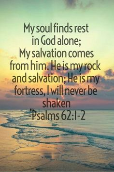 This is so true: my soul does find rest in God alone amen