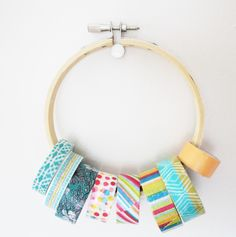 washi tape, storage, craft room, cute, colorful