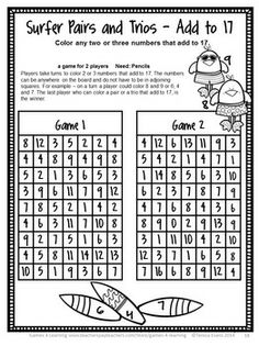 End of Year Math Games Second Grade by Games 4 Learning - This collection of end… Math Board Games, Math Games, Math Activities, Games For Toddlers, Games For Teens, Love Math, Fun Math, Maths Display, New Year's Games