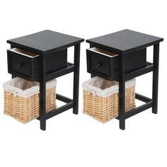 Lot de 2 Table de chevet LESHP table de nuit Noir 30.5 * 28 * 45.5CM - Achat / Vente chevet Lot de 2 Table de chevet - Cdiscount