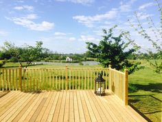 The decking at the back of our marquee, so your guests can enjoy the view to the lake during your wedding breakfast Lawn Games, Wedding Breakfast, Decking, On Your Wedding Day, Wedding Venues, Gardens, Canning, Outdoor Decor, House