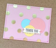 Be Inspired Group Post_crbthank you dots card  Stampin' Up!