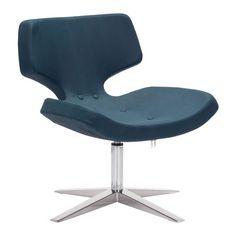Charleroi Occasional Chair Ultramarine Ostrich Pattern