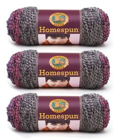 Look at this Gemstone Stripe Homespun Yarn Skein - Set of Three on #zulily today!