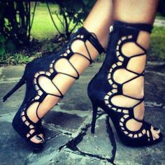 Black High Heels Sandal For Ladies