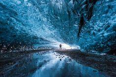 30 paesaggi terrestri che sembrano di un altro pianeta. Caverna di ghiaccio in Islanda - Corriere.it
