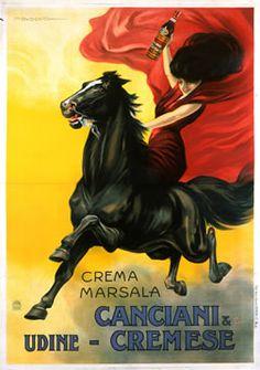 Dudovich, Marcello poster: Crema Marsala - Canciani & Cremese  #TuscanyAgriturismoGiratola