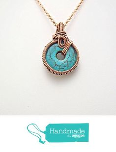 wire wrapped pendant-turquoise pendant-wire wrap pendant-copper jewelry-wire wrap jewelry-turquoise necklace-gift for him-gift for her from psjewelryart https://www.amazon.com/dp/B06XGKW2KH/ref=hnd_sw_r_pi_dp_EpVWybSYCY0R3 #handmadeatamazon