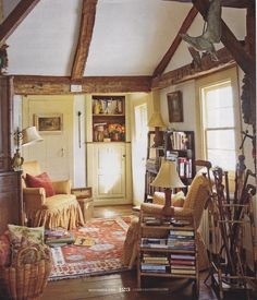 Very much like the style of this room. English cottage...