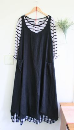Lagenlook Skirt / Breathe Clothing by BreatheAgainClothing on Etsy