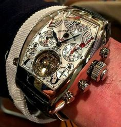 One intense timepiece 👀 The Franck Muller Aeternitas Mega 4 is the worlds most complicated wrist watch! Boasting 36 complications and Best Watches For Men, Amazing Watches, Fine Watches, Luxury Watches For Men, Beautiful Watches, Cool Watches, Unique Watches, Wrist Watches, Tourbillon Watch