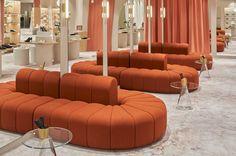 Home Decoration Shops Near Me Furniture Ads, Contract Furniture, Modular Furniture, White Furniture, Cheap Furniture, Furniture Design, Sofa Design, Curved Sofa, Banquette