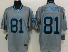 Nike Detroit Lions #81 Calvin Johnson Lights Out Gray Elite Jersey