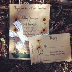 Mason Jar and Sunflowers Wedding Invitation with by Rusticpapers, $195.00
