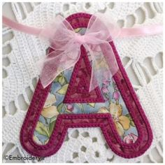 Free Machine Embroidery in the hoop banner alphabet