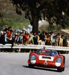 Andrea de Adamich and friends, Targa 1969. Alfa T33 2.5 Spider (Schlegelmilch)...