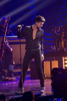 Adam Lambert and Queen At the iHeartRadio Music Festival at the MGM Grand Garden Arena on September 20, 2013 in Las Vegas, Nevada.