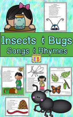 Create a buzz in your class with these adorable piggyback songs and rhymes about insects and bugs. TpT$