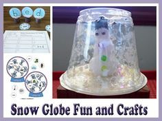 There's something magical about snow globes, so what could be more fun than to spend the day in a snow globe state of mind? Read on to find out how children can make their own snowmen snow globes using a few puff balls, clear plastic cups, and cellophane glitter.
