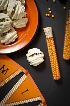 Halloween Haystack Mummies by @Sam McHardy Henderson of Today's Nest for HGTV.com.