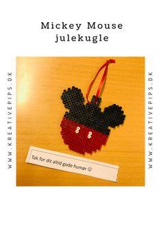 Lav selv en fin Mickey Mouse julekugle i HAMA perler Mickey Ears, Mickey Mouse, Mouse Ears, Christmas, Diy, Hama, Xmas, Bricolage, Michey Mouse