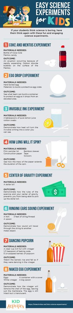 27 Easy Kids Science Experiments for Home and School [Fun Experiment Ideas] Gravity Experiments, Easy Science Experiments, Mad Science, Physical Science, Teaching Science, Science For Kids, Science Activities, Science Resources, Third Grade Science