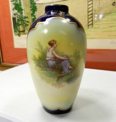 R C Old Vienna. Signed by Krantzberg? Vase, China Dinnerware, Vienna, Mini, Pottery, Antiques, Pictures, Ebay, Home Decor