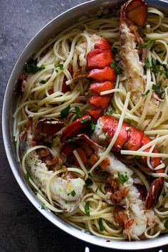 Super Easy Lobster Scampi with Linguini - So simple, but one of the most delicious meals you'll ever make!