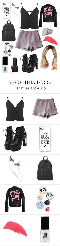 """""""💕❤💕"""" by karabear3256 ❤ liked on Polyvore featuring Miss Selfridge, American Apparel, AiSun, Casetify, Skullcandy, Topshop, High Heels Suicide, Bing Bang, Jane Iredale and Bare Escentuals"""
