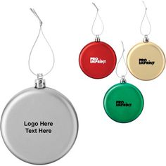 Custom Imprinted Holiday Ornaments at a price as low as  $ 0.85 ! #customornaments #promotionalgiveaway #xmastreedecor