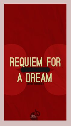 Requiem For A Dream Requiem For A Dream, Darren Aronofsky, Cool Posters, Movie Posters, Minimalism, Typography, Fancy, Movies, Posters