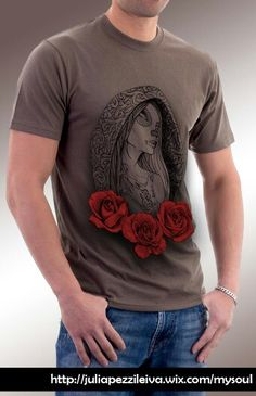 "De la firma ""niRah"" de Julia Pezzi Leiva, sale el nuevo proyecto MySoul. GirlRosesTattoo LINEA Oliva #Camisetas #Diseño #Tshirt #Nerja #MySoul #TattooArt #Moda #ModaMujer #ModaHombre #tshirt #Roses #CamisetasExpresivas #Originales #Original #DiseñoCamisetas #Rosas"