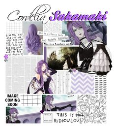 """"""" ✿ // Diabolik Lovers   Cordelia Sakamaki"""" by inhale-smoke-exhale-glitter-999 ❤ liked on Polyvore featuring Fleur du Mal, BCBGeneration, Topshop, women's clothing, women, female, woman, misses and juniors"""