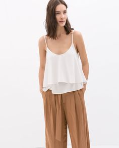 Image 2 of DOUBLE LAYER STRAPPY TOP from Zara