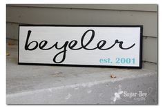 Family Name Sign - Sugar Bee Crafts