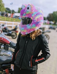 Moto Loot Helmet Cover for Motorcycle Helmet, Fun Rides and Gifts (Cover Only. Helmet Not Included) - Rainbow Long Fur Custom Motorcycle Parts, Aftermarket Motorcycle Parts, Buy Motorcycle, Motorcycle Helmets, Motorcycle Garage, West Coast Choppers, Motorcycle Helmet Accessories, Cheap Motorcycles, Helmet Covers