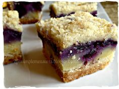 Life's Simple Measures: Blueberry Pie Bars