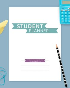 The Hardcover Study Planner For College Students template allows you to plan your school or college week. This planner is perfect for any college or high school student. You can use this template as separate printout or as a part of your binder or digital planner. #planner #college #planners #academic #best Student Planner Printable, Academic Planner, Study Planner, Planner Layout, Planner Template, Planners For College Students, College Planner, High School Students, Planner Organization
