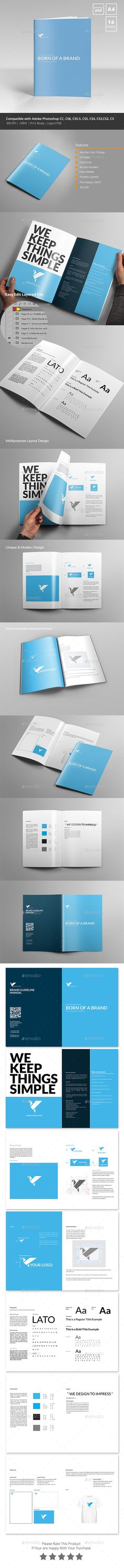 Brand Manual Template vol3 Brand manual, Font logo and Fonts - how to manual template