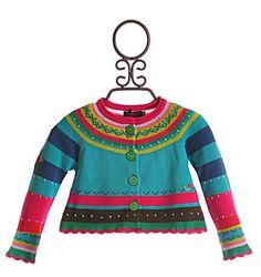 Catimini Little Girls Sweater In Colored Knit|Catimini