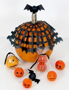 halloween-süßigkeiten-verpacken-originell-kürbis-mandarinen-cellophanverpackung-deko