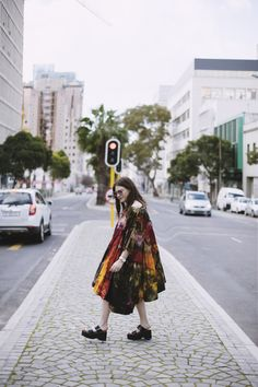 Inferno The Visual Journal fire dress tie dye platforms Cape Town style editorial