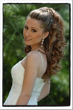 Bridal half-updo idea