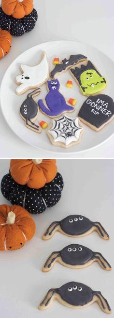 Halloween sugar cookies. Too cute!