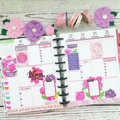 Planner, happy planner, floral planner, flower, flower stickers, #beforethepen #flowers #planneraddict #plannercommunity #plannerlove #planner