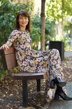 Stretch knit Maxi dress, Floral dress