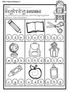 Back to School Math and Literacy No prep Kindergarten Math Worksheets, Homeschool Kindergarten, Preschool Printables, Kindergarten Reading, Free Printables, Back To School Worksheets, Fun Worksheets For Kids, Alphabet Writing, Alphabet Activities