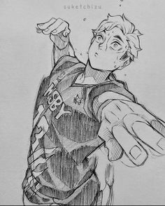Anime Drawings Sketches, Anime Sketch, Sketch Drawing, Haikyuu, Manga Art, Anime Art, Anime Character Drawing, Dibujos Cute, Drawing Reference