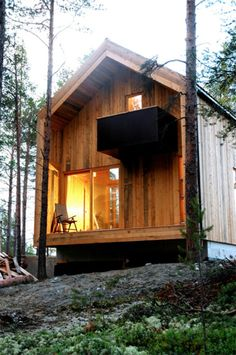 Make this the outside of micro house without the second story.  The balcony can be a covered porch area.
